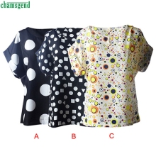 CHAMSGEND WillBeen Fashion Women Blouses Hot Selling Casual Flower Print Tropical Chiffon Fashion Feb14