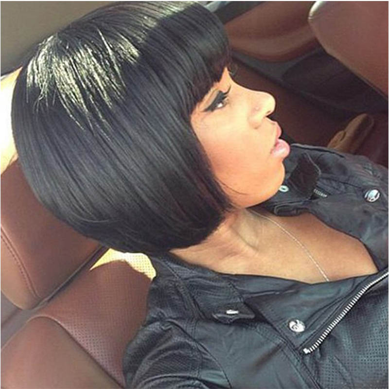 Fashion Bob Style Straight Black Capless Elegant Short Synthetic Wig For Women<br><br>Aliexpress