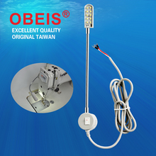 Obeis LED Sewing Machine Light Working Gooseneck Lamp 10 Leds Bulbs Lamp With Magnetic Mounting Base For Home Or Sewing Machine(China)