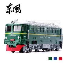 High Simulation Model Toys: ShengHui Car Styling Nostalgic Dongfeng ND2 Locomotive Model 1:87 Alloy Train Model Excellent Gifts(China)