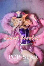 LOL Cosplay Costume LOL Ahri Cosplay Costume Star Singer Ahri Costume purple Coat Halloween Cosplay Costume