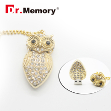 Metal USB Flash Drive Metal Owl Pen Drive 4gb 8gb 16gb 32gb Flash Drive Hot Selling Pendrive Owl(China)