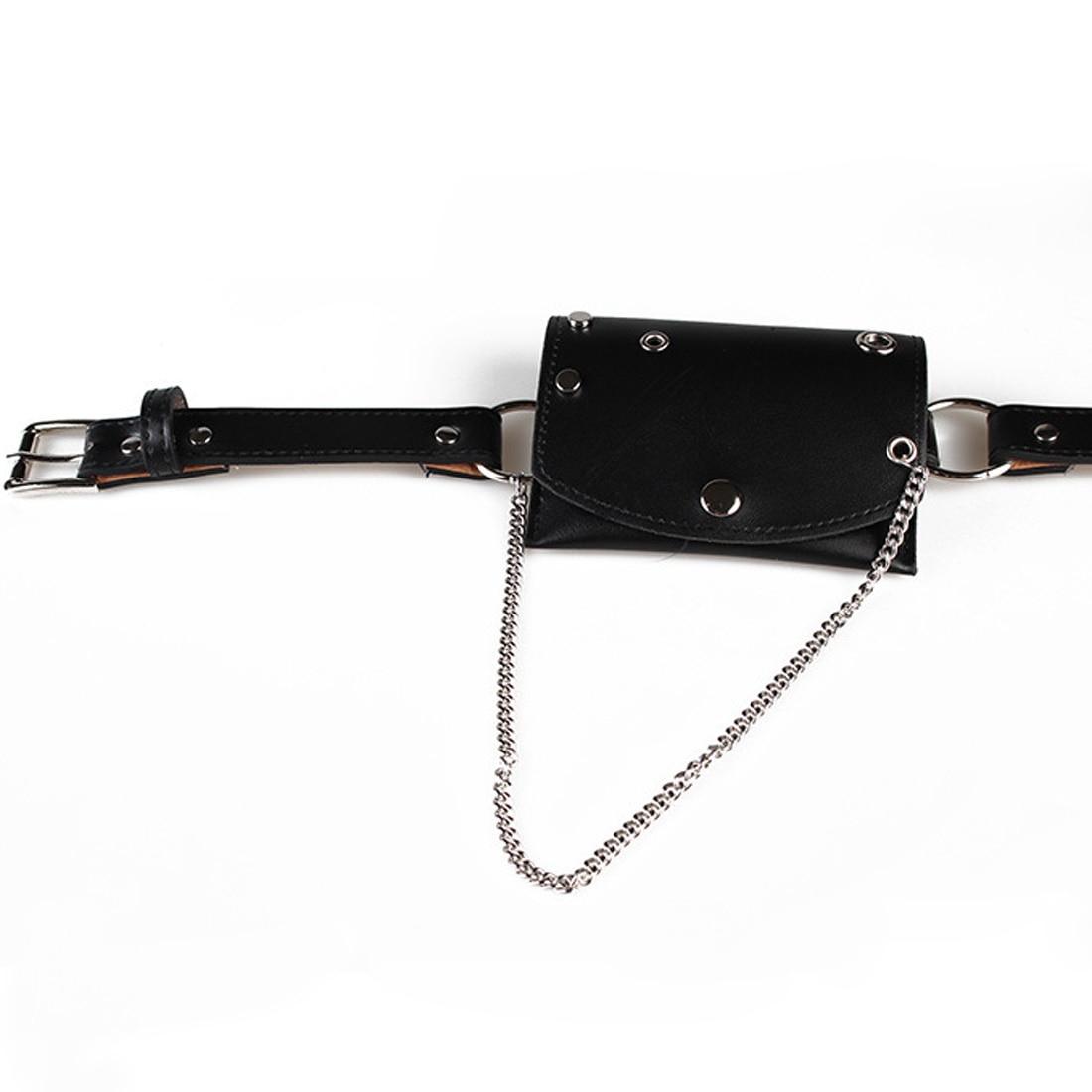 00b9f89564 Fashion New Waist Bags For Women Girls Metal Round Hole Rivet Thin ...