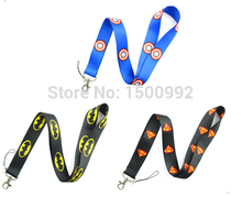 3Pcs Spider-Man Superman Lanyard/ MP3/4 cell phone/ keychains /Neck Strap Lanyard WHOLESALE 3pcs  W1