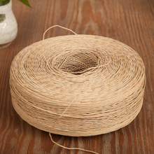 Natrual kraft Paper Rope for Gift Box Wrapping,Wedding/Xmas Decoration,Cookie/Cake/Gift/Kitchen Sweets DIY High Quality 10M(China)