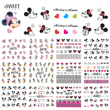 12 Designs in 1  Cartoon Nail Art Decals Water Transfer Nail Stickers Beauty Polish Decoration For Watermark Nail Art LAA373-384