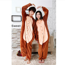 New Style Women's Monkey Pattern Footed Pyjamas For Adults Full Sleeve Polyester Sleep Lounge Onesies Adult Footed Pajamas(China)