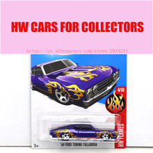 2017 Hot Wheels 1:64 Purple 69 Ford Torino Talladega Metal Diecast Car Models Collection Kids Toys Vehicle For Children