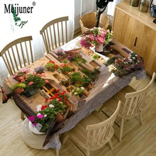 Meijunner Brand New OEM Custom 3D Table cloth Waterproof Thicken Rectangular Wedding Tablecloth Exquisite Christmas Home Textile(China)