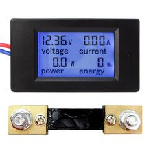 New DC6.5-100V 0-100A LCD Display Digital Current Voltage Power Energy Meter Multimeter Ammeter Voltmeter w/ 100A Current Shunt(China)