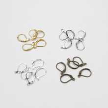20pcs/lotHigh Quality 11*16mm Imitation Ear Wire Hooks Ear Studs DIY Earrings Hooks Wire For Women Jewelry Findings(China)