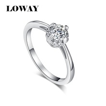LOWAY White Color Finger Ring Generous Elegant Women Fashion Flash Cubic Zirconia Jewelry JZ5852(China)