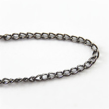Graceangie 1M/lot Gun Black Plating Wholesale Jewelry Making Chain Link Wholesale On Sale Singapore Chain Promotion(China)