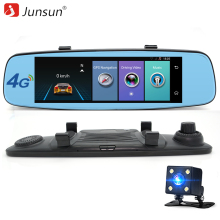 "Junsun 4G ADAS Car DVR Camera Digital Video recorder mirror 7.86"" Android 5.1 with two cameras dash cam Registrar black box 16GB"