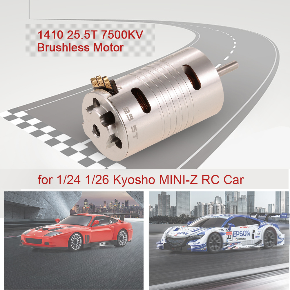 1410 25.5T 7500KV Metal RC Brushless Motor for RC Car 124 126 Kyosho MINI-Z RC Rock Crawler Climbing Off-road Car Parts (1)