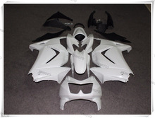 Motorcycle Unpainted White+Black Ninja 250r Fairings BodyWork Kit For KAWASAKI NINJA250 NINJA 250 250R EX250 2008-2012 +4 Gift