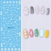 Beauty Products Water Transfer Foils Nail Art Sticker Fashion Nails White Love Words Manicure Decals Minx Nail Decorations Tools