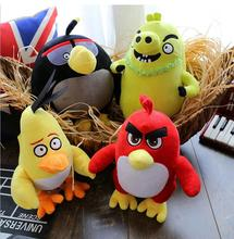 4pcs/lot 30cm HOT Flying red black birds pig plush kids toys 3D Cartoon Kawaii animal birds action & toy figure & hobbies