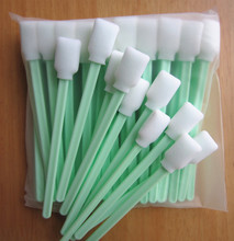 Post free shipping - 200 pcs Solvent printer printhead ink brush cleaning swab sticks