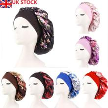 PKR 237.81  21% Off | Uk Stock Womens Floral Silk Sleep Cap Night Sleep Hat Hair Care Scarves Bonnet