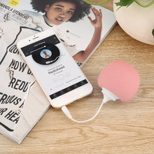 Cute Style 3.5mm Jack Aux Audio Plug Mini Wired Speaker Music Sponge Ball Speaker for Smart Mobile Phone Tablet MP3 MP4(China)