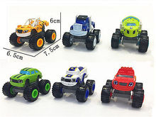 1PC or 1 x Vehicle with Box Blaze and the Monster Machines Vehicles Diecast Toy Racer Cars Trucks Kid Baby Gift