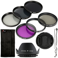 Accesseries Kit Set CHIC 52mm Filter UV CPL FLD ND2 4 8 Lens Hood for Nikon D5300 D800 D600 LF133