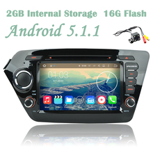 Free Camera Android 5.1.1  Car DVD Player GPS RDS Radio Tape Recorder For KIA K2 RIO 2010 2011 2012 2013 2014 TV DVR TV 3G Wifi