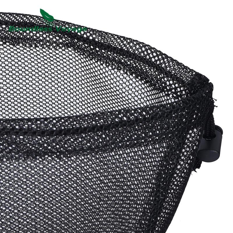 Travel Backpacking Tableware Dinning Tool Drawstring Storage Bag Mesh Pouch