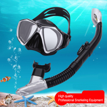THENICE Snorkel Set Anti Fog Scuba Diving Mask Glasses Equipment Full Dry Snorkeling Swimming Training Underwater Mask Women men