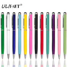 ULIFART 2 IN 1 Capacitive Touch Screen Stylus Pen Multi Ballpoint Pen For IPad IPhone Samsung Tablet(China)