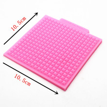 P299 double sugar silicone impression super light soft clay TaoCai clay mold manual biscuits small grid woven texture pad