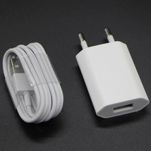SZHXNOR AC USB wall charger for iphone + 8 pin to usb data charging charger cable for iphone 5 5 s 6 6s plus SE 7 8 X,white