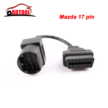 MAZDA 17 Pin to OBD OBD2 OBDII DLC 16 Pin to 16 Pin Female Car Diagnostic adapter Cable Mazda 17PIN For Mazda Series