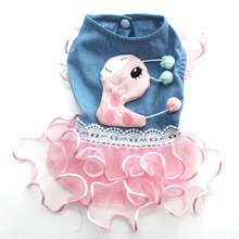 New arrival Dog Cat Princess Dress Tutu Denim&Deer Design Pet Puppy Shirt Vest Summer Clothes 5 sizes(China)