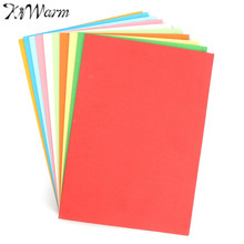 KiWarm 100Pcs 10 Assorted colors A4 Coloured Cardboard Paper For Scrapbook Greeting Cards Paper Craft Handicraft DIY Material(China)