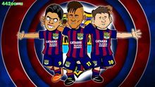 Ken Luis Suarez Messi MSN 40X60cm Neymar 25 Barcelona football soccer star cartoon wall stickers, posters, best assembly room