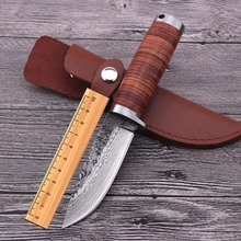 Handmade Duanda Hunting Tactical Fixed Blade Knife Pattern Steel Blade & Leather sheath Camping Pocket Survival Straight Knives(China)