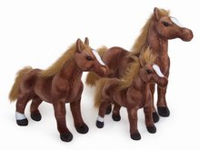 lovely plush horse toy imitate horse stuffed toy doll gift about 65cm chocolate