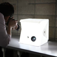 Mini Portable Folding lightbox Photography Photo Studio box with LED Lighting Kit Light box for Digital DSLR Camera
