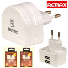 REMAX EU / UK Standard Smart Charger Dual USB Wall Charger Plug For iPhone Android  Mobile Phone & Tablet Adapter
