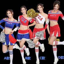 2017 summer High School Girls Cheerleading Costume Sleeveless Cheerleader Uniform Sportwear Lady Halloween Fancy Costume