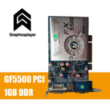 100% NEW 256MB DDR 128Bit GF5500 pci PC Graphics Card Placa de Video carte graphique Video Card for Nvidia S-Video(China)