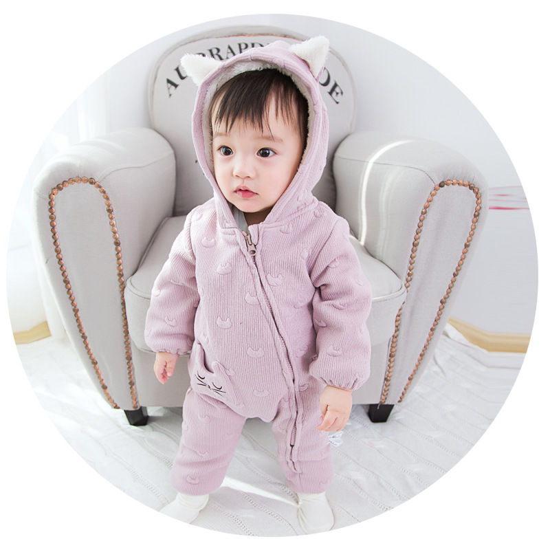 High Quality Cute Kitty Baby Rompers Newborn Boy Clothes For Newborns Girls Jumpsuit Baby Clothes Newborn Kid Clothes 2017 New<br>