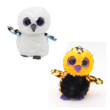 "Ty Beanie Boos Big Eyes 6"" Tiger Black Pattern & Ghost OWL Animal Plush Stuffed Toys"