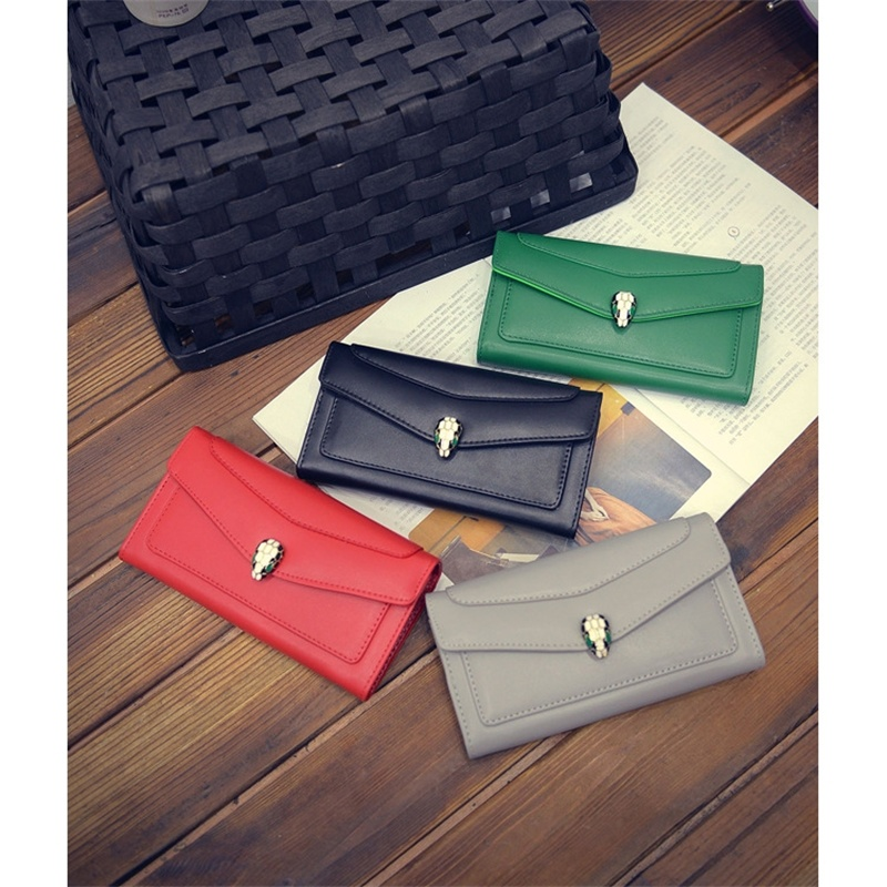 2017 Hot Sale PU Leather Hasp Women Wallet Ladies Long Clutch Coin Purse Credit Card Holder Purse    ST0808 Gray<br><br>Aliexpress