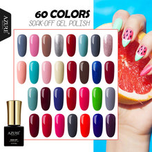 AZURE BEAUTY Gel Varnish Nail Polish 60 Colors Manicure Hybrid Lacquer Hot Sale Gel Nail Paint Soak Off Azure Nail Gel Polish(China)