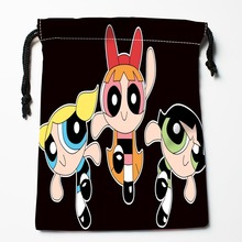 Best The Powerpuff Girls Drawstring Bags Custom Storage Printed Receive Bag Compression Type Bags Size 18X22cm Storage Bags(China)