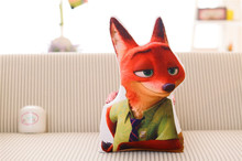 Free shipping 2016 Animal Zootopia Red fox Nick Cartoon pillow Cushion for cushion Pillow sing