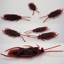 Hot Christmas props cheap 100PCS Simulation fake cockroaches whole toy creative novelty Tricky cockroaches mini toys(China)